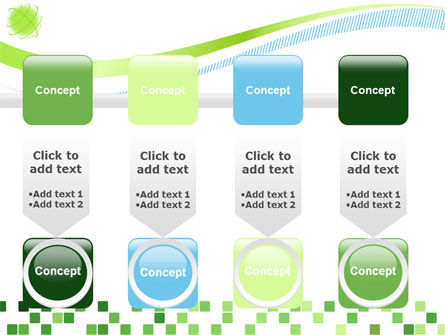 Green Mosaic PowerPoint Template Slide 18