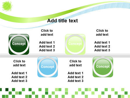 Green Mosaic PowerPoint Template Slide 19