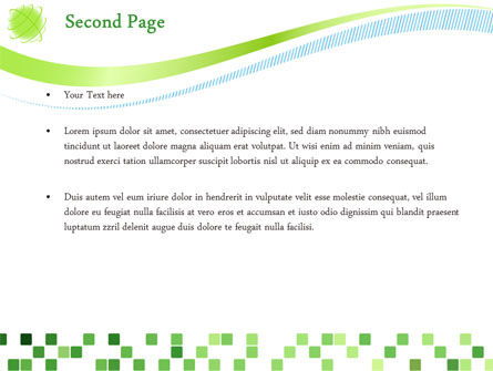 Green Mosaic PowerPoint Template Slide 2