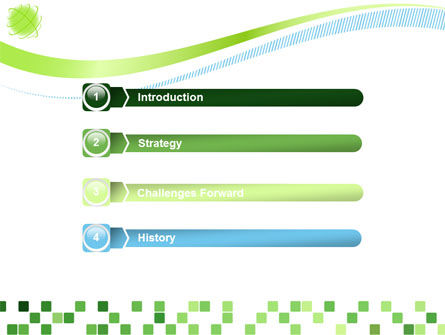 Green Mosaic PowerPoint Template Slide 3