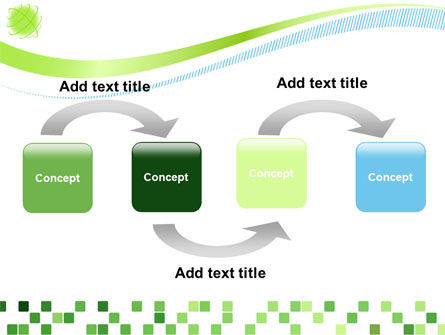 Green Mosaic PowerPoint Template Slide 4