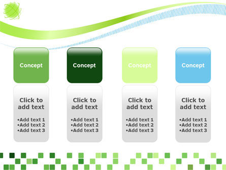 Green Mosaic PowerPoint Template Slide 5