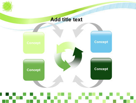 Green Mosaic PowerPoint Template Slide 6