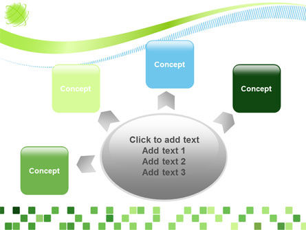 Green Mosaic PowerPoint Template Slide 7