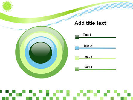 Green Mosaic PowerPoint Template Slide 9