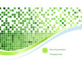 Abstract/Textures: Green Mosaic PowerPoint Template #08300