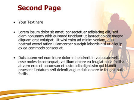 Bicycle Racing In Sunset PowerPoint Template, Slide 2, 08301, Sports — PoweredTemplate.com