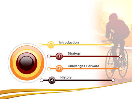 Bicycle Racing In Sunset PowerPoint Template, Slide 3, 08301, Sports — PoweredTemplate.com