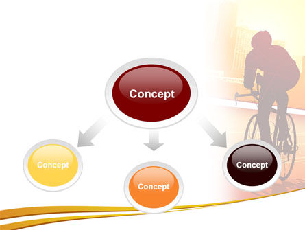 Bicycle Racing In Sunset PowerPoint Template, Slide 4, 08301, Sports — PoweredTemplate.com