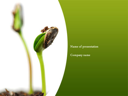 Agriculture: Sprouting Seed PowerPoint Template #08302