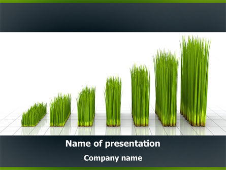 Growing Chart PowerPoint Template, 08303, Business Concepts — PoweredTemplate.com
