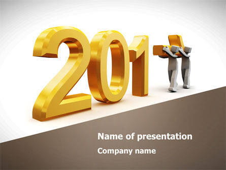 Upcoming Year PowerPoint Template, 08304, Business — PoweredTemplate.com