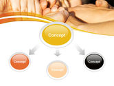 Hands Contact PowerPoint Template#4