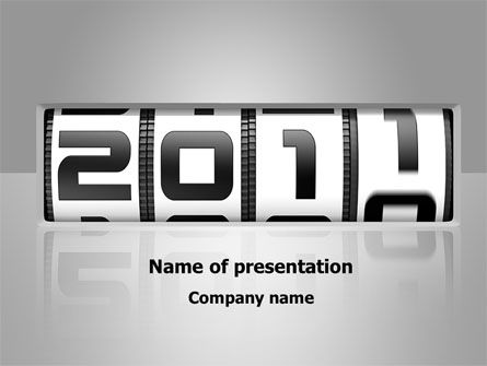 Holiday/Special Occasion: 2011 Timer PowerPoint Template #08306