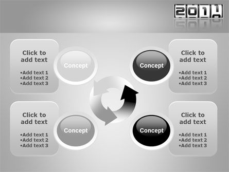 2011 Timer PowerPoint Template Slide 9