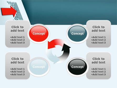 Arrow Breaking Through PowerPoint Template Slide 9