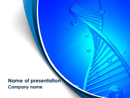 Medical: DNA Strand PowerPoint Template #08309