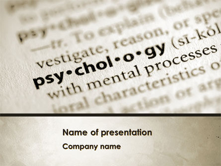 Definition Of Psychology PowerPoint Template, 08310, Technology and Science — PoweredTemplate.com