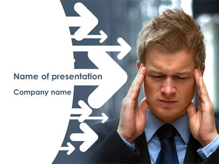 Consulting: Business Trouble PowerPoint Template #08311