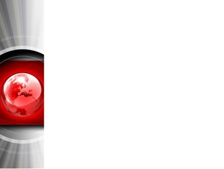 Red Globe Theme PowerPoint Template, Slide 3, 08312, Global — PoweredTemplate.com