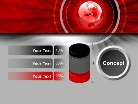 Red Globe Theme PowerPoint Template Slide 11