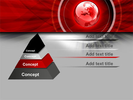 Red Globe Theme PowerPoint Template Slide 12