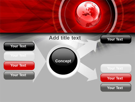 Red Globe Theme PowerPoint Template Slide 14