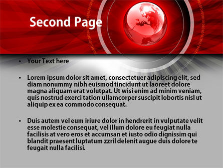 Red Globe Theme PowerPoint Template Slide 2
