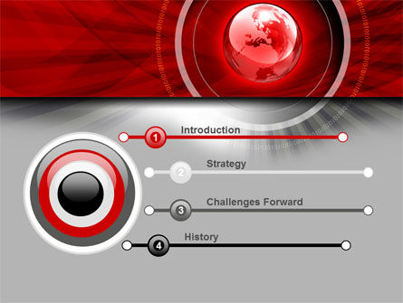 Red Globe Theme PowerPoint Template Slide 3