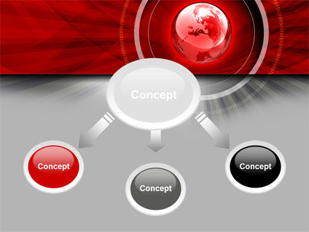 Red Globe Theme PowerPoint Template Slide 4