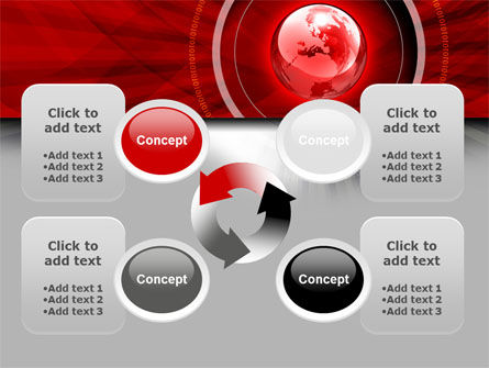 Red Globe Theme PowerPoint Template Slide 9