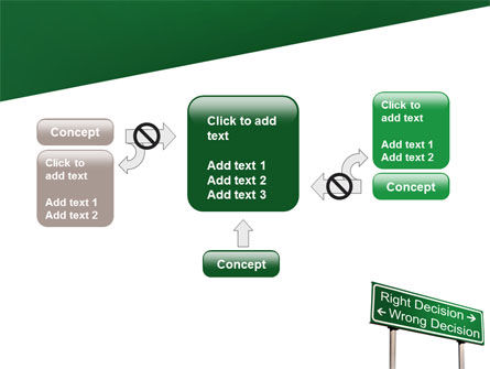 Right Decision Sign PowerPoint Template Slide 13