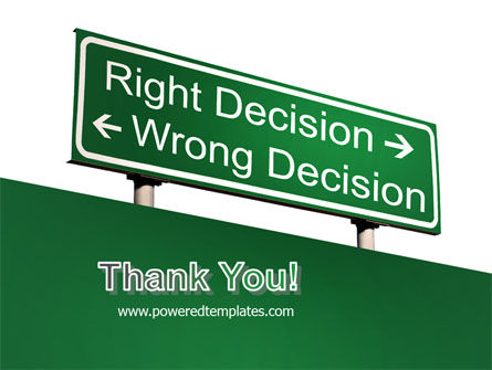 Right Decision Sign PowerPoint Template Slide 20