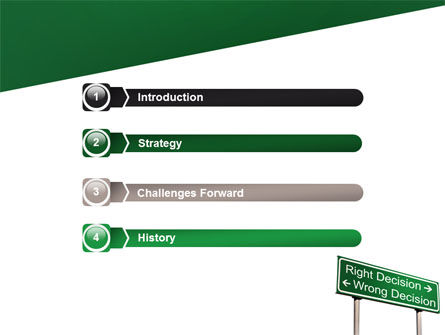 Right Decision Sign PowerPoint Template, Slide 3, 08313, Consulting — PoweredTemplate.com