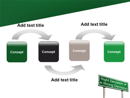 Right Decision Sign PowerPoint Template, Slide 4, 08313, Consulting — PoweredTemplate.com