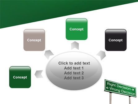 Right Decision Sign PowerPoint Template Slide 7