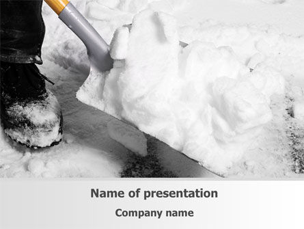 Nature & Environment: Snow Shovel Free PowerPoint Template #08314