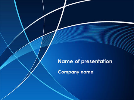 Abstract/Textures: Deep Blue Theme PowerPoint Template #08316