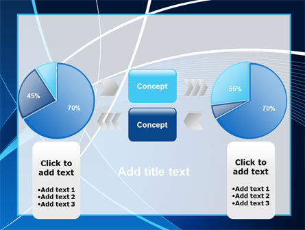 Deep Blue Theme PowerPoint Template Slide 11