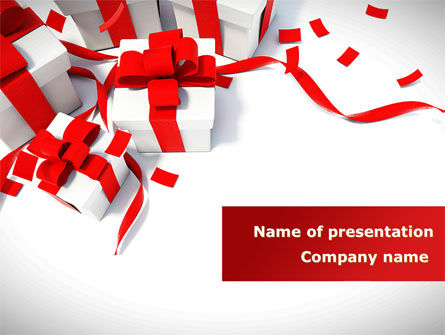 Wrapped Presents PowerPoint Template, 08317, Holiday/Special Occasion — PoweredTemplate.com
