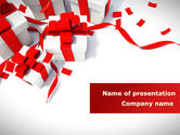 Holiday/Special Occasion: Wrapped Presents PowerPoint Template #08317