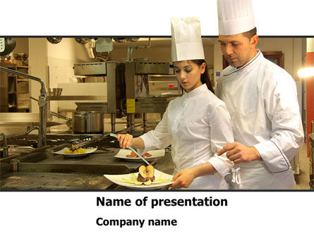 Food & Beverage: Female Chef PowerPoint Template #08318