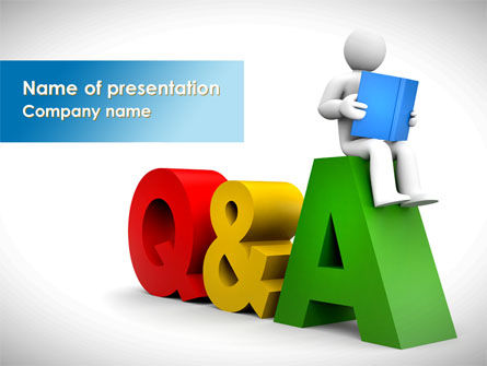 Questions & Answers PowerPoint Template, 08319, Education & Training — PoweredTemplate.com