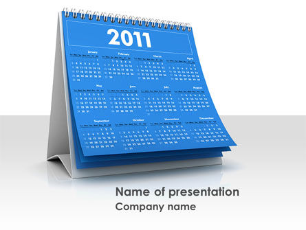 Holiday/Special Occasion: 2011 Calendar PowerPoint Template #08321