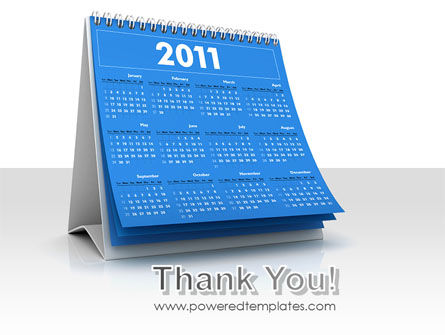 2011 Calendar PowerPoint Template Slide 20