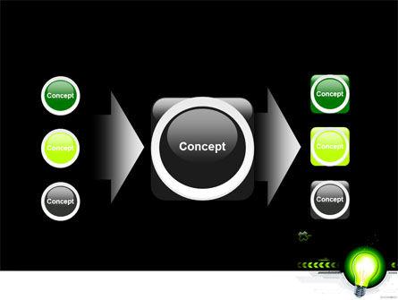 Green Light Schematically PowerPoint Template Slide 17