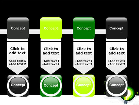 Green Light Schematically PowerPoint Template Slide 18