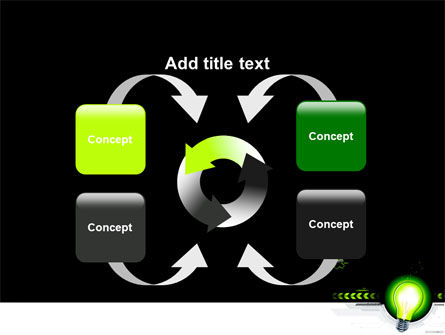 Green Light Schematically PowerPoint Template Slide 6