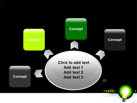 Green Light Schematically PowerPoint Template Slide 7