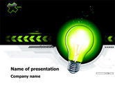 Business Concepts: Green Light Schematically PowerPoint Template #08322